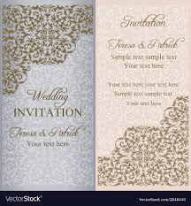 Baroque Wedding Invitations Baroque Wedding Invitation Patina Royalty Free Vector Image