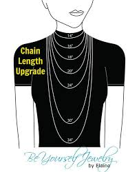 Tennis Chain Size Chart Chain Length Upgrade By Beyourselfjewelry On Etsy 4 99