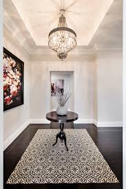 foyer artwork entry transitional with two bathrooms two bathrooms tray ceiling