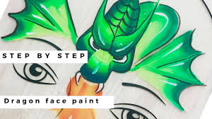 dragon face painting tutorial how to face paint a dragon face painting classes learn to face paint