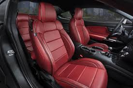 katzkin ford mustang red leather interior ford mustang