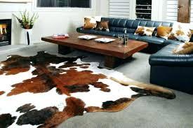 fake cowhide rug rugs designs real or