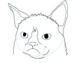 easy grumpy cat drawing. Interesting Easy Grumpy Cat Drawing Tutorial In Easy Grumpy Cat Drawing O