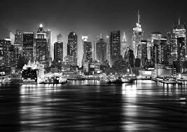 new york skyline black and white hd wallpaper wallpapers