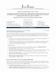 Resume For Marketing Manager Fresh Sample Resume For Sales And