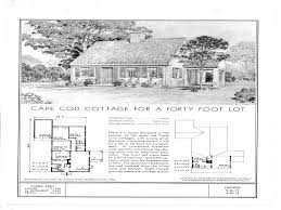 architecture attractive 1940s home plans 21 ranch house style floor for small homes cape cod