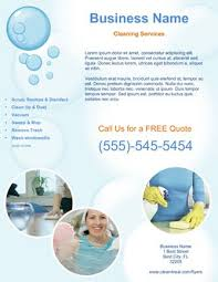 commercial cleaning flyer templates flyer templates images cleaning business on marketing materials