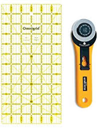 Shop Amazon.com | Quilting- Rulers & Ruler Racks & Quilters Fabric Cutting Ruler and Rotary Cutter Set - Includes One 6 x 12  inch Omnigrid Adamdwight.com