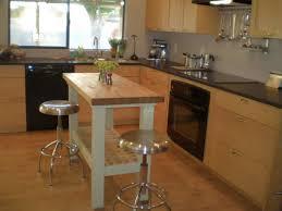 Brilliant Small Kitchen Island Ikea with Round Swivel Backless Bar