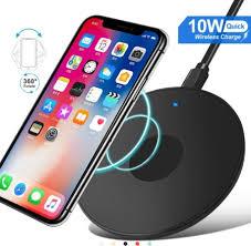 <b>OLAF 10W</b> Metal Desktop <b>Fast</b> Charging Round <b>Wireless Quick</b> ...
