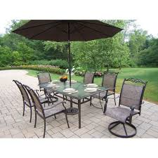 Patio Dining Sets Costco Plastic Outdoor Table With Umbrella Hole 60