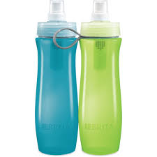 inside brita water filter. Brita Water Purifier Bottle: Blue / Green 2-Pack With Filter Inside K