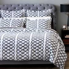 dwellstudio arabesque ink king duvet cover dw 1100 50 43 bedding