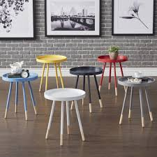 Marcella Paint-dipped Round Spindle Tray-top Side Table iNSPIRE Q Modern by  iNSPIRE Q