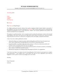 Executive Assistant Cover Letter By Susan Horsesmith Executive