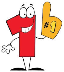 foam finger clipart. number one clipart image: a red 1 wearing large foam finger. finger
