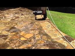 how to clean flagstone and bricks you