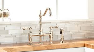 farmhouse sink faucet. Exellent Farmhouse A Deckmount Faucet Will Mount To Your Countertop Behind Sink Ensure  That Area Is Large Enough Accommodate Selection Leaving At Least A  On Farmhouse Sink Faucet N