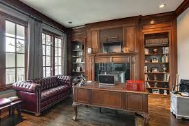 home office sofa. Traditional Home Office With The Original Chesterfield Sofa, Hardwood Floors, Pottery Barn Cameron Cotton Sofa
