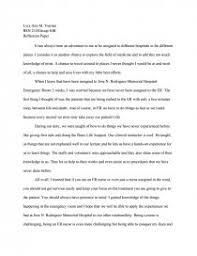 bsn er nursing reflection paper essay zoom zoom