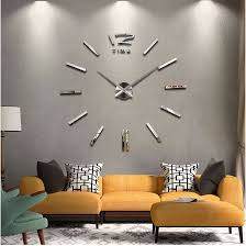2018 new home decor big wall clock modern design living room quartz throughout inspirations 8