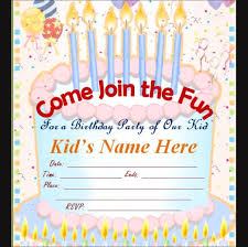 free birthday invitation template for kids electronic invitation templates free musicalchairs us