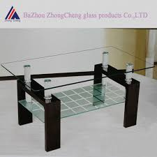 modern glass center table design with prepare 16