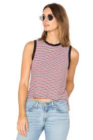 rag bone jean racer tank stripe navy women rag bone slim straight official