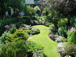 Small Picture English Garden Design Ideas The path of grass between gardens