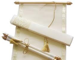 Scroll Wedding Invitations Etsy