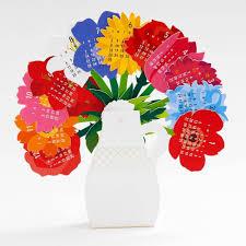 3d Paper Flower Calendar 2019 Flowers 3d Vase Calendar Gifts Cute Office Supplies