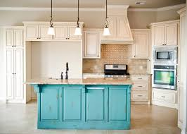 diy revamp kitchen cabinets awesome distressed turquoise island with cream glazed cabinets stone