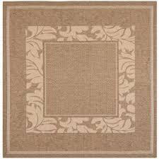 courtyard brown natural 7 ft x 7 ft indoor outdoor square area
