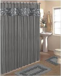 get ations sinatra bling silver grey fabric shower curtain fabric covered rings area rug contour