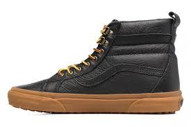 vans sk8 hi mte mens shoes black leather gum