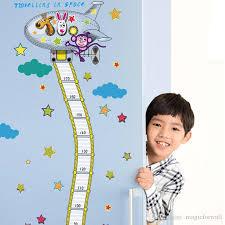 Fire Truck Aerial Ladder Height Measurement Wall Sticker Kids Boys Room Nursery Growth Chart Wall Decal Cartoon Animal Wallpaper Flower Wall Stickers