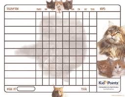 Behavior Charts Cats Theme Kid Pointz