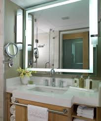 Lighted Bath Vanity Mirrors Integrity Led Lighted Bathroom Mirror By Electric Mirror