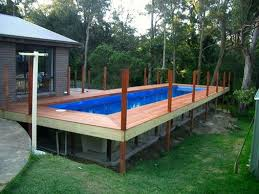 intex above ground pool decks. Modren Intex Rectangular Above Ground Pools With Wooden Decks With Intex Above Ground Pool Decks N