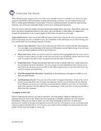 Interview Tip Interview Tip Sheet
