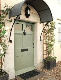 elegant front doors. Metal Awnings For Front Doors Arched Awning Mint Door Color Black Antique Fixtures That Tie This Elegant