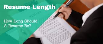 Resume Length New Resume Length How Long Should A Resume Be