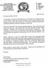 Sample Teacher Recommendation Letter Beauteous Recommendation Letter From Sarah Napier