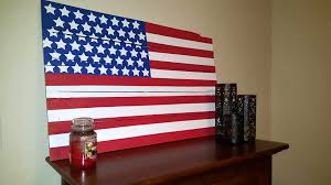 wooden pallet custom country flag wall art