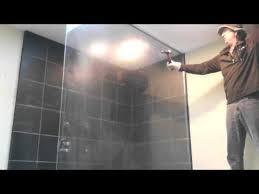 breaking tempered glass shower wall door