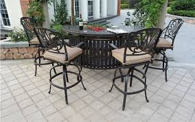 Sunvuepatio Nassau Cast Aluminum Powder Coated <b>5 Piece</b> ...