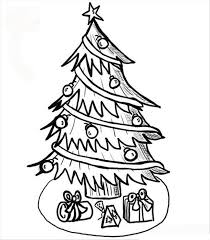 Christmas Tree 109 Objects Printable Coloring Pages