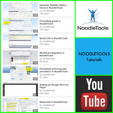 Watch Noodletools Tutorials On Youtube Research At Kvcc