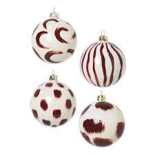 Weihnachtsbaumkugel ø8cm 4er Pack Rotbraun