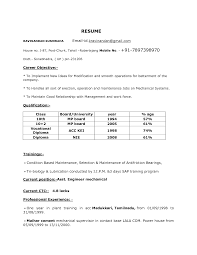 Mechanical Engineering Resume Format Sidemcicek Com